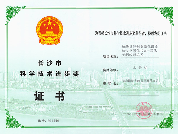 Changsha Science and Technology Progress Award